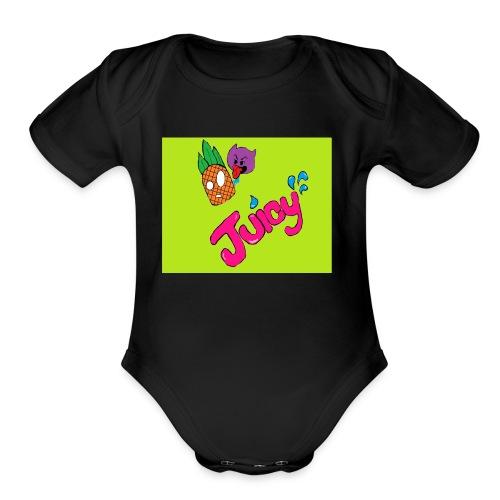 Juicy lime green - Organic Short Sleeve Baby Bodysuit