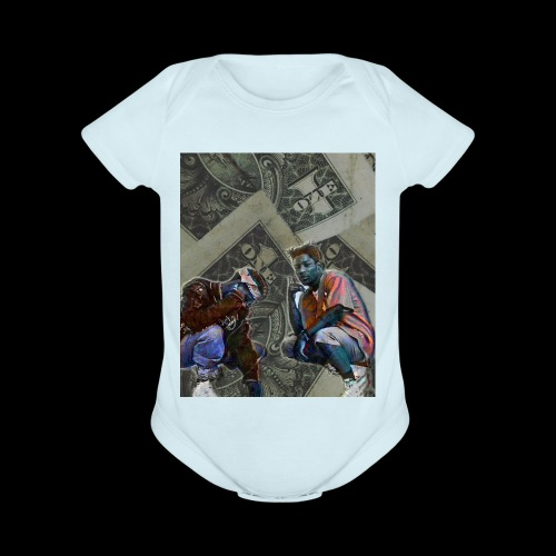 Kill$x,T3 - Organic Short Sleeve Baby Bodysuit