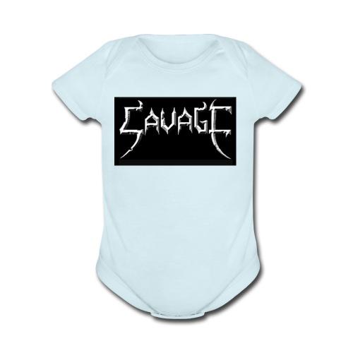 Savage print - Organic Short Sleeve Baby Bodysuit