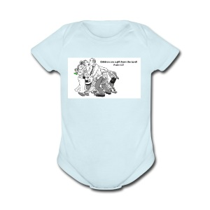 Children are a gift from the Lord-Psalm 127 - Short Sleeve Baby Bodysuit