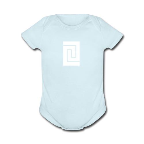 PlainWhiteLogo - Organic Short Sleeve Baby Bodysuit