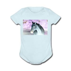 Just an inverted horse - Short Sleeve Baby Bodysuit