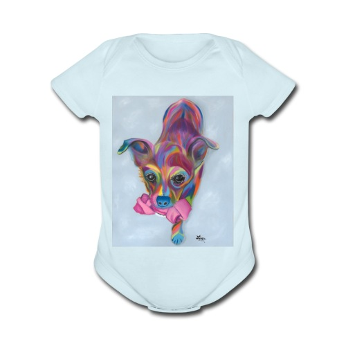 Dixie Dog - Organic Short Sleeve Baby Bodysuit