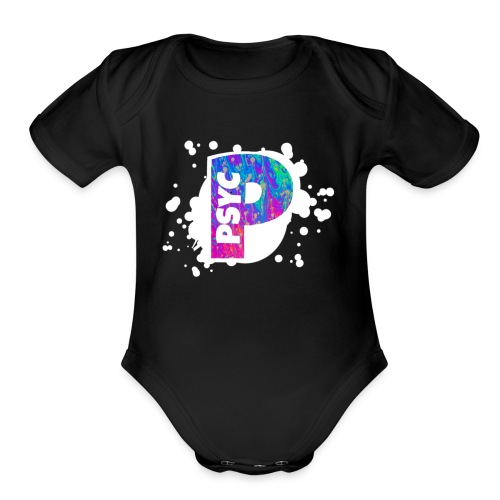 PSYC Channel Art Design - Organic Short Sleeve Baby Bodysuit