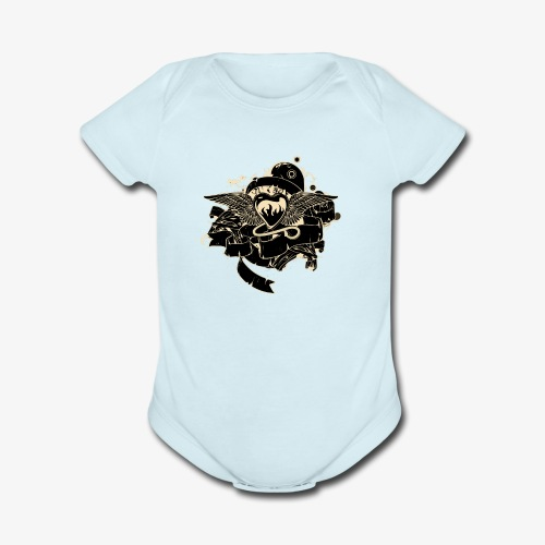 t shirt 4 - Organic Short Sleeve Baby Bodysuit