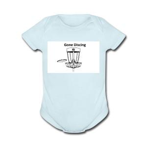 gone_discing - Short Sleeve Baby Bodysuit