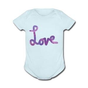 love - Short Sleeve Baby Bodysuit