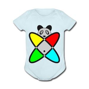 SCIENCE PANDA - Short Sleeve Baby Bodysuit