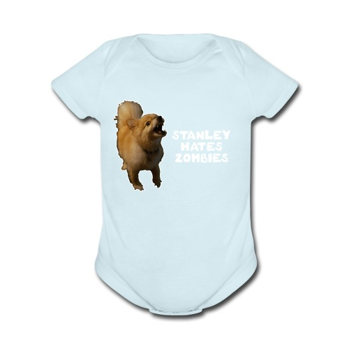Stanley Hates Zombies - Organic Short Sleeve Baby Bodysuit