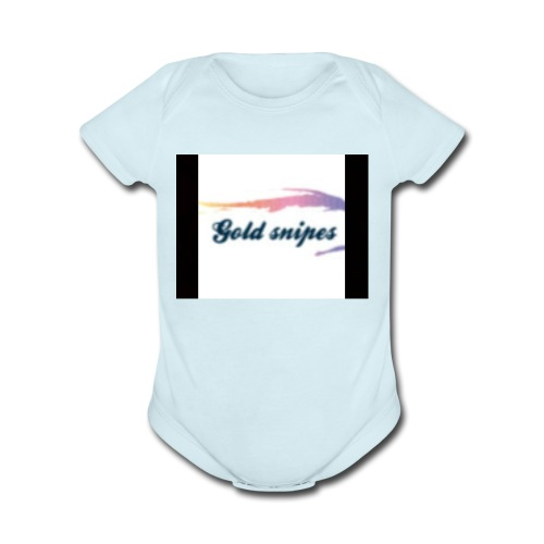Kids Gold snipes Tshirt - Organic Short Sleeve Baby Bodysuit