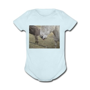 Donkey Face - Short Sleeve Baby Bodysuit