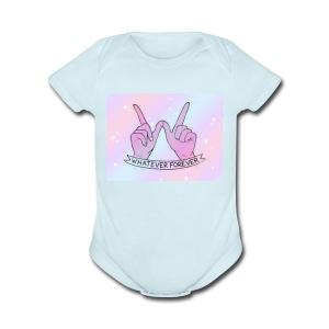 Whatever Forever - Short Sleeve Baby Bodysuit