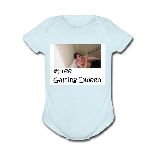 #FreeGamingDweeb - Organic Short Sleeve Baby Bodysuit