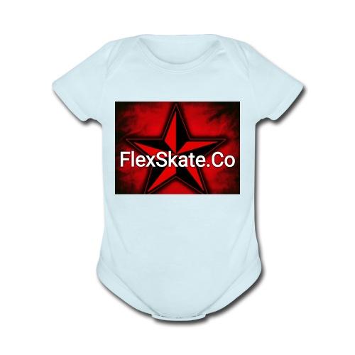 FlexSkate.Co Logo #3 - Organic Short Sleeve Baby Bodysuit