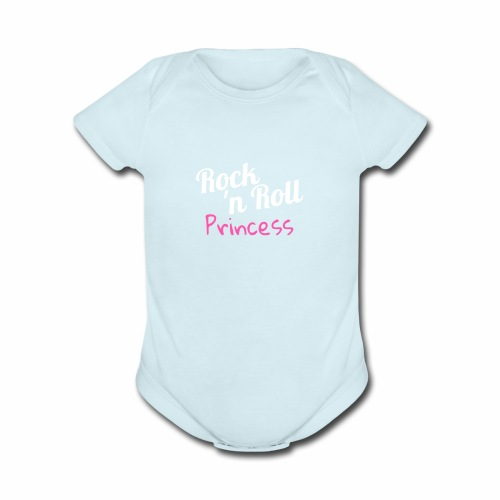 Rock n Roll Princess - Organic Short Sleeve Baby Bodysuit