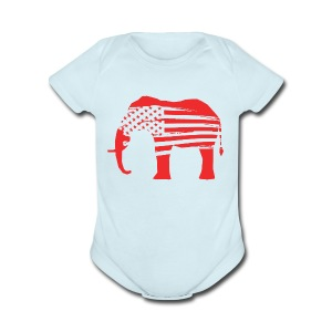 The Red Elephants Official Logo - Short Sleeve Baby Bodysuit