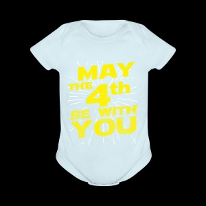 May The 4th Be With You Distressed - Short Sleeve Baby Bodysuit