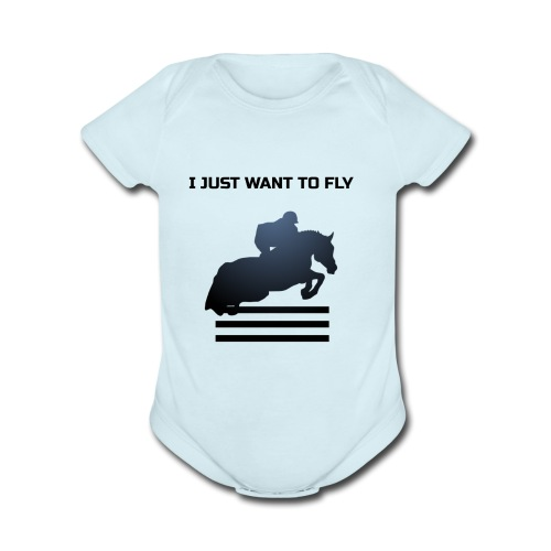 WANT TO FLY - Organic Short Sleeve Baby Bodysuit