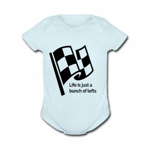 Life Is Just A Bunch Of Lefts Racing Design - Short Sleeve Baby Bodysuit