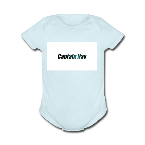 Captain Nav Logo - Organic Short Sleeve Baby Bodysuit