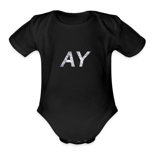 Ay White Diamond - Organic Short Sleeve Baby Bodysuit