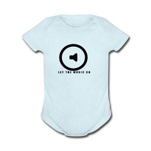 Let the music go - Short Sleeve Baby Bodysuit