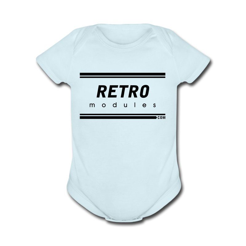 Retro Modules - Short Sleeve Baby Bodysuit