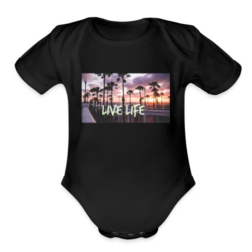 LIVE LIFE - Organic Short Sleeve Baby Bodysuit