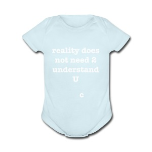reality - Short Sleeve Baby Bodysuit