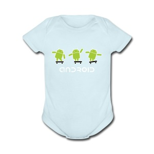 android logo T shirt - Short Sleeve Baby Bodysuit