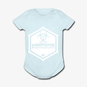 Warning: Biohazard - Short Sleeve Baby Bodysuit