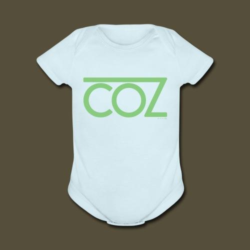 coz_logo_lightgreen - Organic Short Sleeve Baby Bodysuit