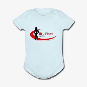Fit 'n Fierce Athletics full logo - Short Sleeve Baby Bodysuit