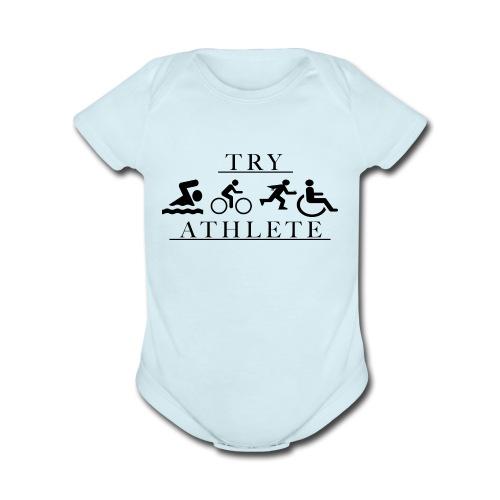TRY ATHLETE - Organic Short Sleeve Baby Bodysuit