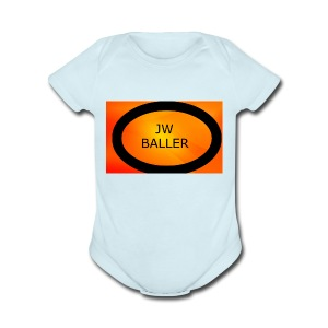 jw baller merch - Short Sleeve Baby Bodysuit