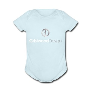 Gristwood Design Logo For Dark Fabric - Short Sleeve Baby Bodysuit