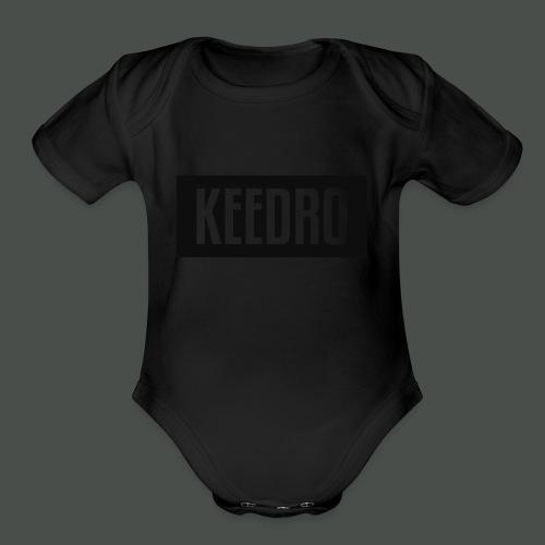 Keedro logo spreadshirt - Organic Short Sleeve Baby Bodysuit
