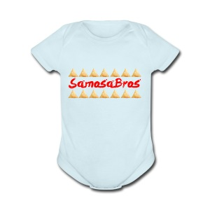 SamosaBros 2 Design - Short Sleeve Baby Bodysuit