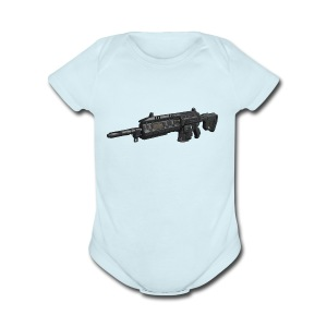 wildflor5561's main gun - Short Sleeve Baby Bodysuit
