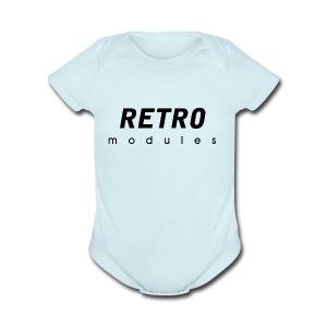 Retro Modules - sans frame - Short Sleeve Baby Bodysuit
