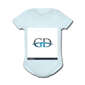 stock vector gd initial company blue swoosh logo 3 - Short Sleeve Baby Bodysuit