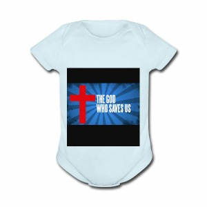 Because i am helping my church and my family - Short Sleeve Baby Bodysuit