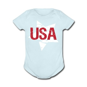 USA! - A stylish 4th July collection - Short Sleeve Baby Bodysuit