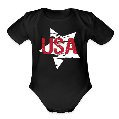 USA! - A stylish 4th July collection - Organic Short Sleeve Baby Bodysuit