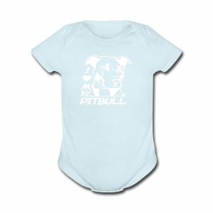 I love pit bulls - Short Sleeve Baby Bodysuit