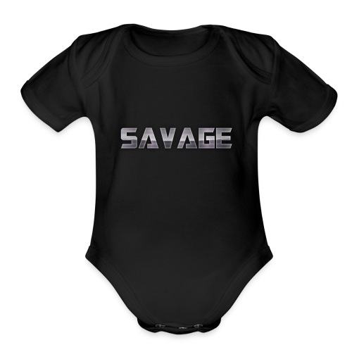 BE A SAVAGE - Organic Short Sleeve Baby Bodysuit