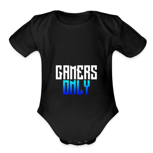 Gamers only - Organic Short Sleeve Baby Bodysuit