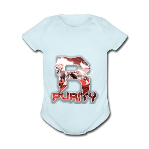 Rose_Purity - Short Sleeve Baby Bodysuit