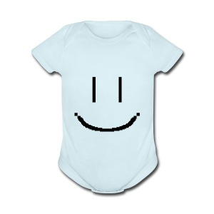 Smiley - Short Sleeve Baby Bodysuit