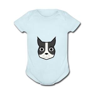 Boston Terrier - Short Sleeve Baby Bodysuit